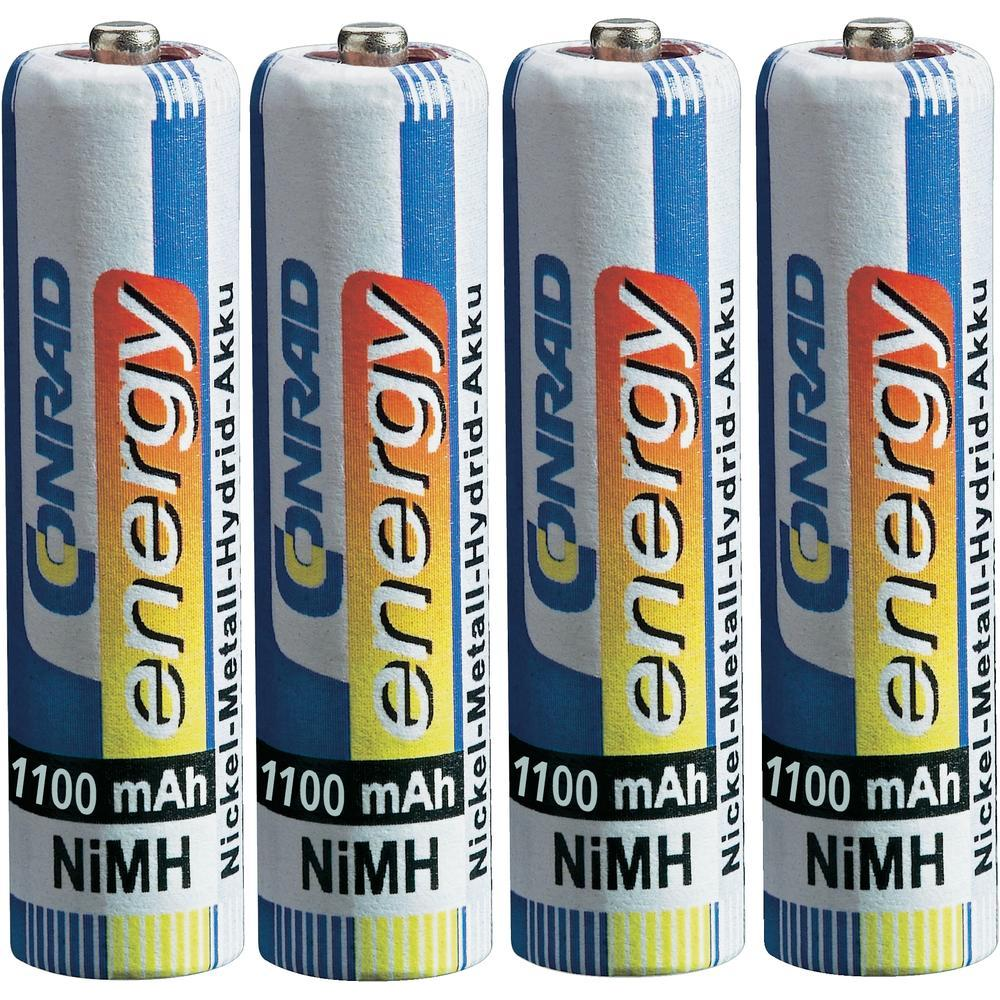 Conrad energy Rechargeable AAA Battery x4 pc(s) NiMH 1.2V